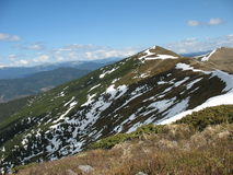 The snowy peaks of the Carpathians Royalty Free Stock Photography
