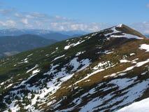 The snowy peaks of the Carpathians Stock Photos