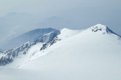 Snowy Peaks in Denali  Wilderness Preserve Stock Photos