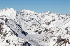 Snowy peaks Royalty Free Stock Photos