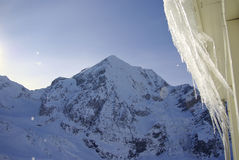 Snowy peaks in the European Alps Royalty Free Stock Photos