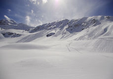 Snowy peaks in the European Alps Stock Photography