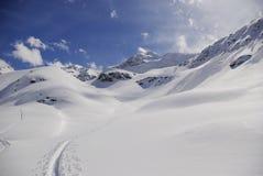Snowy peaks in the European Alps Stock Photo