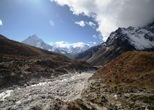 Snowy peaks of the Himalaya Stock Image
