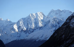 The snowy peaks in the Himalayas Royalty Free Stock Photo