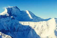 Snowy peaks at the Mont Blanc area. Mont Blanc mountain massif s Stock Photography