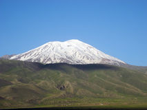 Snowy peaks of Mount Ararat. Royalty Free Stock Images