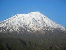 Snowy peaks of Mount Ararat. The top of Mount Ararat in summer, Turkey Royalty Free Stock Photo