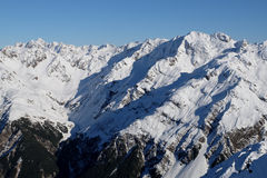 The Snowy Peaks of Mt Guinevere and Mt Murchison. Royalty Free Stock Images