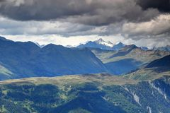 Snowy peaks and steep ridges in Venediger and Villgraten Tauern Royalty Free Stock Image