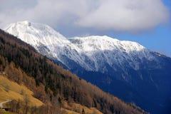 Snowy peaks of Tirol, Austria. Beautiful high snow peaks of Alps. Winter meets spring royalty free stock photos