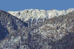 Snowy Piatra Craiului mountains Royalty Free Stock Photography