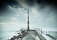 Snowy-Pier Stockfotografie