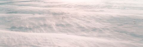 Free Snowy Plain With Drift Panoramic View Royalty Free Stock Photography - 217402277