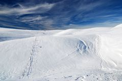 Snowy plateau Stock Photography