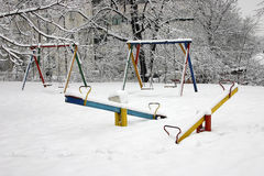 Snowy Playground Royalty Free Stock Photos