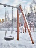 Snowy playground Royalty Free Stock Photos