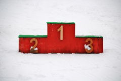 Snowy Podium Royalty Free Stock Photos