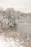Snowy Pond Royalty Free Stock Photography