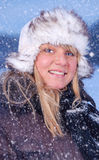 Snowy portrait Royalty Free Stock Photos