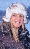Snowy portrait Royalty Free Stock Photos