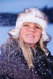 Snowy portrait of a woman Royalty Free Stock Photos