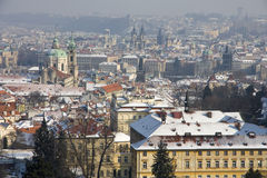 Snowy Prague Stock Photography