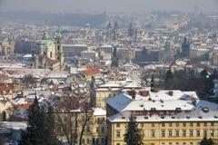 Snowy Prague Stock Photography