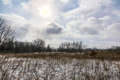 Snowy Prairie Stock Photos