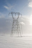 Snowy Pylons Royalty Free Stock Photography