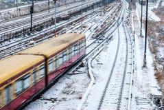 Snowy railroad Stock Photos