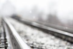 Snowy Railway Royalty Free Stock Photo
