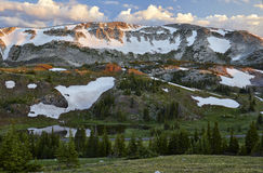 Snowy Range, Wyoming. A view of Medicine Bow Peak along the Snowy Range a.k.a. Medicine Bow mountains in southeastern Wyoming royalty free stock photo