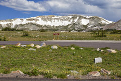 Snowy Range, Wyoming. View of Medicine Bow Peak, located in the Snowy Range of southeastern Wyoming stock image