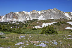 Snowy Range, Wyoming. View of a portion of the Snowy Range, located in southeastern Wyoming royalty free stock image