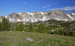 Snowy Range, Wyoming. View of a portion of the Snowy Range in southeastern Wyoming stock images