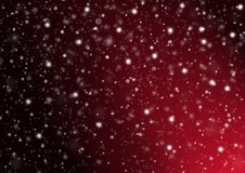 Snowy Red Background. White snowflakes on a red background with light coming from the right vector illustration
