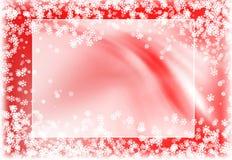 Snowy red frame stock illustration