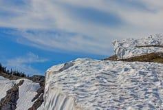 Snowy Ridge Stock Photo