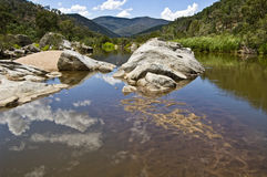 Snowy river in Australia. Stock Photo