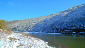 Snowy river Dniester Canyon Royalty Free Stock Photos