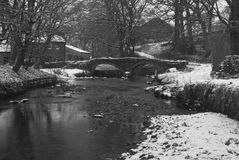 Snowy river scene Royalty Free Stock Photography