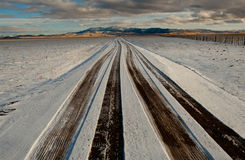 Snowy Road Stock Images