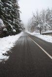 Snowy road Stock Photos