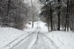 Snowy road 6 Royalty Free Stock Photography