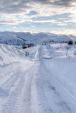 Snowy road 2 Royalty Free Stock Image