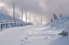Snowy road Stock Photo