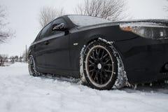 Snowy roads Royalty Free Stock Photo