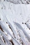 Snowy rocks Stock Image