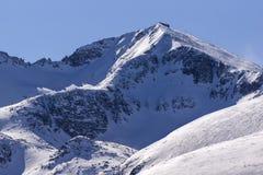 Snowy Rocks of Musala peak, Rila Mountain Stock Image